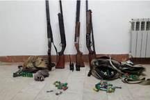 دستگیری پنج شکارچی متخلف در بخش هیر اردبیل