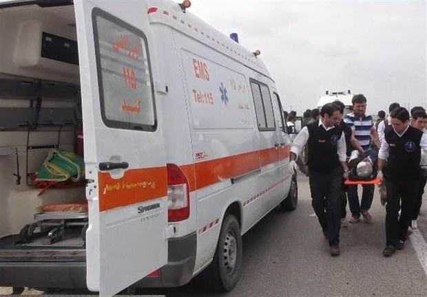 خودروی حامل سیلندر گاز در جاده میناب به جاسک حادثه آفرید