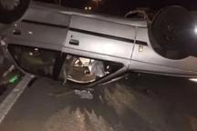 واژگونی خودرو در قزوین 2 کشته برجای گذاشت