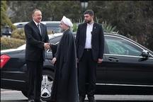 استقبال رسمی دکتر روحانی از رییس جمهوری آذربایجان