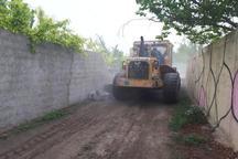 10 ساخت و ساز غیرمجاز در شمیرانات تخریب شد