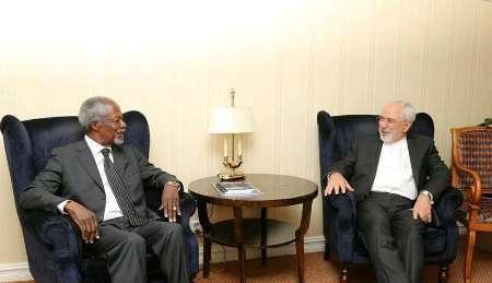 ظریف با کوفی عنان دیدار کرد