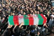پیکر مطهر یک شهید گمنام در اندیمشک تشییع شد