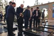 ادای احترام استاندار تهران به شهیدان شهرستان پاکدشت