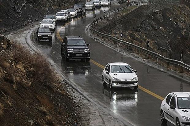 ترافیک در جاده های استان مرکزی نیمه سنگین است