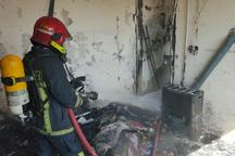 نشت گاز خانه مسکونی در محلات را طعمه آتش کرد