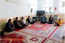 دیدار سرپرست فرمانداری حمیدیه با جمعی از معلولان شهرستان