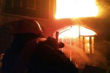 یکی از سراهای بازار تاریخی تبریز آتش گرفت