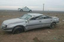 واژگونی خودرو در جاده سبزوار - شاهرود حادثه آفرید
