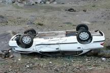 یک کشته بر اثر واژگونی خودروی سمند در قزوین