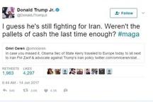 توئیت تند پسر ترامپ علیه جان کری+عکس