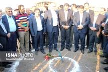 کلنگ زنی مجتمع فولاد نگین با حضور وزیر صمت در شهرک صنعتی اهر