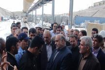 استاندار کرمانشاه از سد شهدای گمنام قصرشیرین بازدید کرد