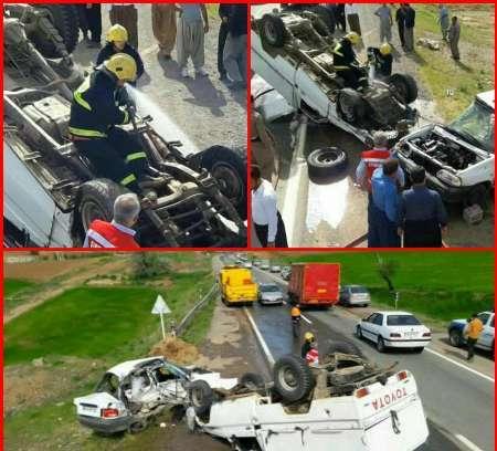 تصادف در محور سقز-بانه یک کشته و یک زخمی برجای گذاشت