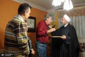 """دیدار رئیس جمهور با """"هاسو کشیش دانیلیان"""" جانباز ارمنی"""