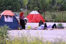 یاسوج، مملو از چادرهای مسافرتی