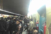 نقص فنی مترو خط یک ،جنوب به شمال درایستگاه مولوی