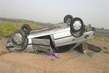 واژگونی پژو در جاده فاروج - قوچان سه نفر را مصدوم کرد