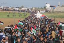 شهادت 50 فلسطینی و زخمی شدن 8هزار نفر در جریان تظاهرات بازگشت/ 6 مبارز فلسطینی در انفجار نوار غزه شهید شدند