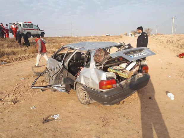 واژگونی خودرور شش نفر را مجروح کرد