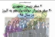 سفر ۴۰ وزیر به استان البرز در ۴ سال