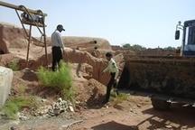 پلمپ 15 حلقه چاه آب غیرمجاز در قلعه گنج