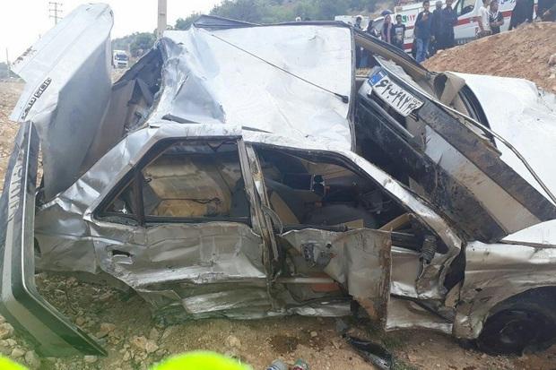 تصادف در جاده یاسوج یک کشته و 8 مصدوم برجا گذاشت