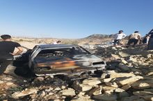 آتش سوزی خودرو در باشت راننده را به کام مرگ برد