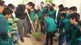 دانش آموزان لرستانی با شعار دوستی با طبیعت، اقدام به کاشت نهال کردند