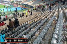 وضعیت عجیب سکوهای ورزشگاه آزادی بعد از فینال لیگ قهرمانان + عکس و فیلم