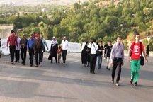 خبرنگاران همدانی پیاده روی کردند
