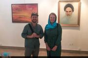 حضور زوج گردشگر استرالیایی در نگارستان امام خمینی(س) اصفهان