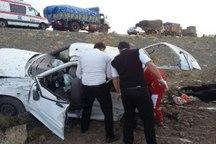 واژگونی خودرو در غرب سبزوار چهار مصدوم برجای گذاشت
