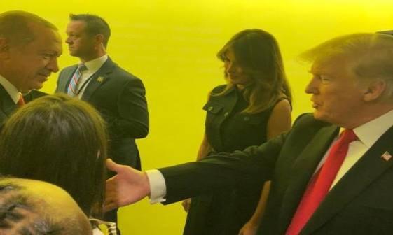 نخستین دیدار ترامپ و اردوغان از زمان آغاز تنش میان دو کشور+عکس
