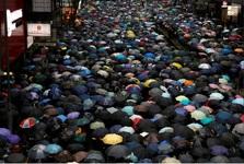 تظاهرات میلیونی معترضان در هنگ کنگ+تصاویر