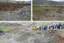 عملیات خاکبرداری در اراضی ملی مریوان متوقف شد