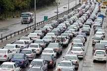 راه های البرز پر ترافیک شد