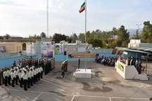 صبحگاه مشترک نیروهای نظامی و انتظامی بهاباد برگزار شد