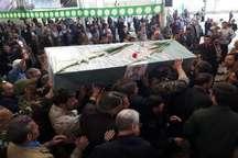 پیکر چهاردهمین شهید مدافع حرم  خمینی شهر تشییع شد