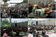 پیکر یک شهید تازه تفحص شده در آران و بیدگل تشییع شد