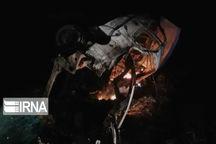 واژگونی خودروی حامل سوخت قاچاق در قلعهگنج ۲ کشته بر جا گذاشت