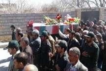مراسم تشییع پیکر مطهر 2 شهید گمنام در مروست خاتم برگزار شد