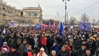 عکس/ تظاهرات گسترده مردمی علیه نخست وزیر مجارستان