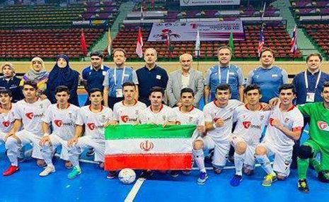 تیم فوتسال دانش آموزان ایران قهرمان آسیا شد
