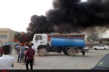 مرکز بهداشت قلعه گنج در آتشسوخت+ تصاویر