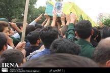 پیکر شهید مدافع حرم در باخرز تشییع شد