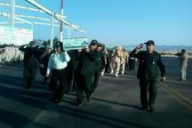 ورود پیکر پنج شهید دوران دفاع مقدس به فرودگاه شهدای ایلام