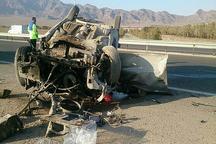 واژگونی یک دستگاه خودرو در محور نطنز- اصفهان یک کشته و 2 زخمی به جا گذاشت
