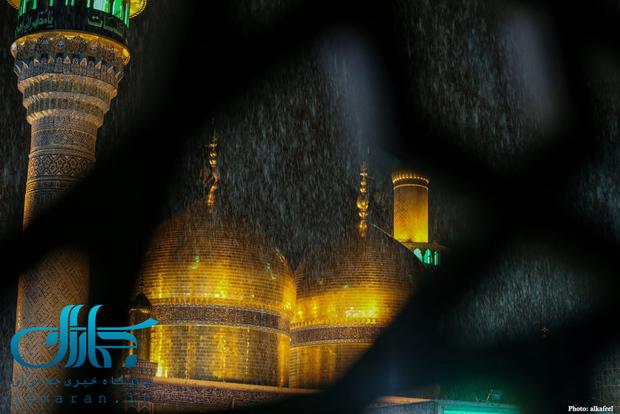 تصاویر زیبایی از بارش باران در کربلا