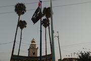 اهتزاز پرچم عزای سیدالشهدا(ع) در دزفول و اندیمشک